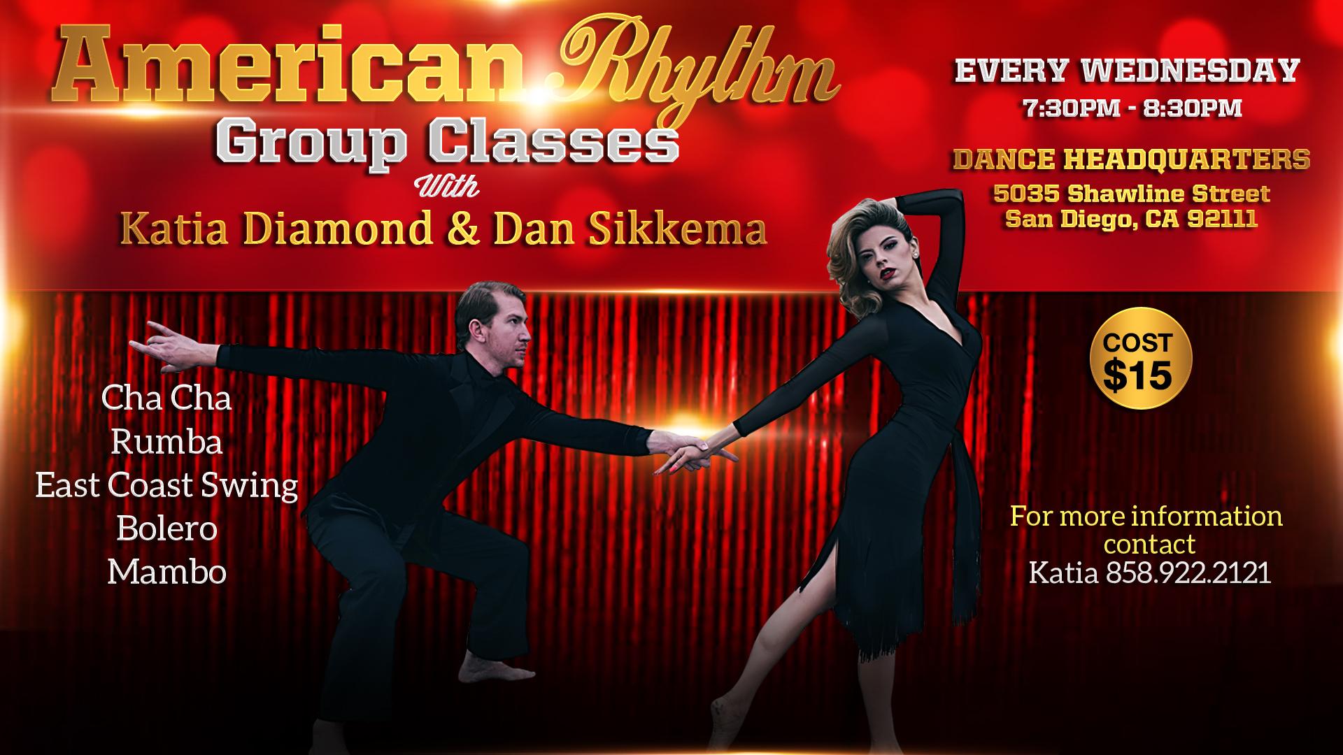 American Rhythm Group Classes with Katia & Dan